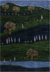 OSTA Eldorado – Vloerkleed – Tapijt – geweven – wol – eco – duurzaam - modern - boho - Groen Landschap - 80x150