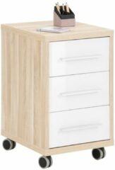 Bermeo Ladeblok Banco 68 cm hoog - Eiken met wit