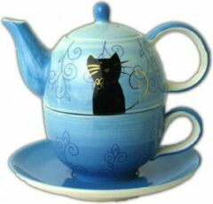 Blauwe ChaCult Tea for one set Filou - keramiek