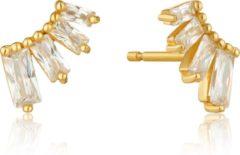Goudkleurige Ania Haie AH E018-04G Oorknoppen Zilver geelgoudverguld - 0,6 x 1 cm