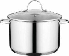 Zilveren Berghoff Essentials Comfort Soeppan - 24 cm - RVS - met glazen deksel