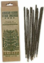Naturelkleurige Vegan wierookstokjes 'Peace & Confidence', Andeskruiden, Prabhuji's Gifts, 10 sticks