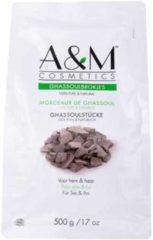 Bruine A&M cosmetics GHASSOUL/GHASSOULBROKJES/RHASSOUL, biologische gezicht&haarmasker 500g