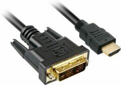 Sharkoon 1m, HDMI/DVI-D 1m HDMI DVI-D Zwart - [4044951017324]