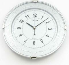 YILTEX Wandklok – Ø33cm – Zilver
