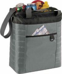 Bellatio Design Familie koeltas grijs/zwart met schouderband 32 x 35 cm - Strand/camping/picknick/bier koeltas