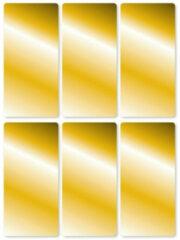 Goudkleurige Gouden etiketten 18 stuks - Gouden stickers 18 stuks