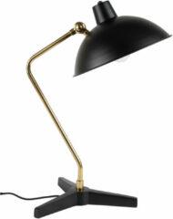 Zwarte Dutchbone Devi bureaulamp zwart Metaal