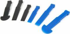 Blauwe Lemato 6 Delige Kunststof Beitelset (Verwijderen van Panelen, Sierdelen en Wielgewichten)