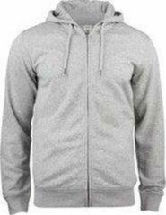 Clique Premium OC Hoody Capuchon Sweater met rits grijsmelange m