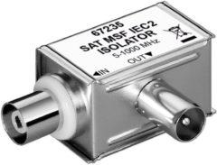 Goobay 67235 kabeladapter/verloopstukje Zilver