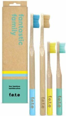 Afbeelding van Blauwe F.E.T.E tandenborstel set Fantastic Family pack