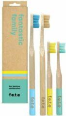 Blauwe F.E.T.E tandenborstel set Fantastic Family pack