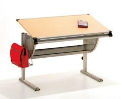 Ilsas Link&acutes Schreibtisch PLATO Metal/MDF buche dekor