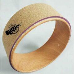 Bruine Detoxen.eu Yoga Wheel Cork - Nieuw yoga wiel van kurk