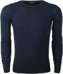Marineblauwe TOM TAILOR Eenvoudige gebreide trui, Knitted Navy Melange, L