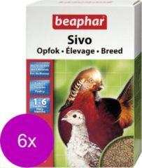 6x Beaphar Sivo Opfok Vogelvoer 1-6 maanden 1 kg
