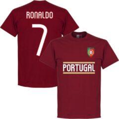 Bruine Retake Portugal Ronaldo Team T-Shirt - L