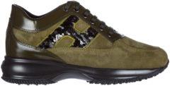 Verde Hogan Scarpe sneakers donna camoscio interactive h spezzata