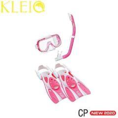 TUSA SPORT Mini Kleio Hyperdry Travel kinder snorkelset - roze - maat M (35-42)