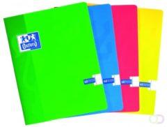 Oxford SCHOOL schrift geassorteerde kleuren formaat A5 120 bladzijden commercieel geruit