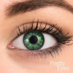 Pretty Eyes Kleurlenzen - groen - 8 stuks - daglenzen