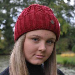 Bordeauxrode Piri Sport Hats & Co beanie voor hem en haar - kleur bordeaux rood