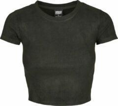 Zwarte Urban classics Cropped - Korte Urban - Streetwear - Modern - Casual - Modern - Lente - Zomer Dames T-shirt Maat XS