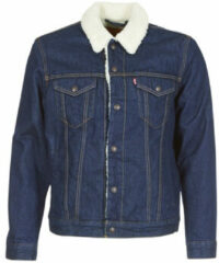 Blauwe Levi's Men's Type 3 Sherpa Trucker Jacket - Rockridge Trucker Jacket - XL - Blue