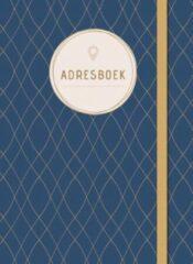 Deltas Adresboek 14,8 X 10,7 Cm Papier/karton Donkerblauw/goud