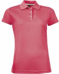 Roze Polo Shirt Korte Mouw Sols PERFORMER SPORT WOMEN