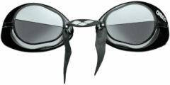 Zilveren Arena Swedix wedstrijdzwembril met spiegelglazen - Zwembrillen