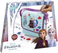 Paarse Frozen 2 - groot formaar schoudertas versieren 26 x 28 cm - Totum hobbypakket