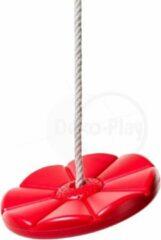 Déko-Play schotelschommel Rood met PH touwen