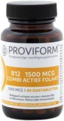 Proviform Vitamine B12 1500 mcg combi actief folaat 60 Zuigtabletten