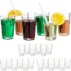 Relaxdays 24x waterglazen - 300 ml - kristallen waterglazen - drinkglazen - glazenset