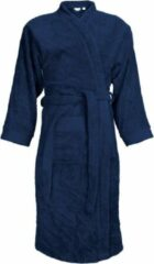 Marineblauwe Classic Collection I2T Badjas badstof zonder Capuchon - Navy blauw - XXL/3XL - 340 gr/m²