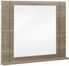 Gamillo Furniture Wandspiegel Moka 93 cm hoog in houtskool eiken