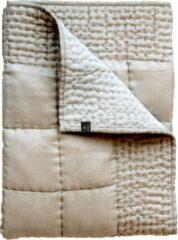 Creme witte Himla Delia bedsprei cream 240 x 240 cm