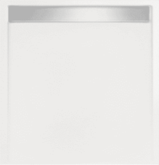 Witte Beterbad Xenz Douchebak vierkant zelfdragend Easy Tray 80x80x5cm gootcover Glans