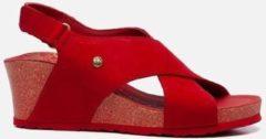 Panama Jack Valeska Basics B4 sandalen met sleehak rood - Maat 38
