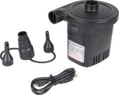 Zwarte Bo Camp Bo-Camp - Elektrische pomp - Oplaadbaar - USB - 4000 mAh - 250ltr/min