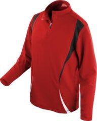 Spiro Unisex Sportproef Prestatie Trainingen Top (Rood/zwart/wit)