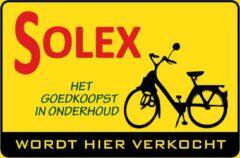 Gele Retroborden.nl Wandbord - Solex - Wordt Hier Verkocht