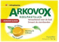 Arkovox Honing citroen keelpastilles 8 Tabletten