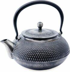 Zilveren Dt Theepot - Theepot Himeij - Gietijzeren Theepot 1200 ml met zeef