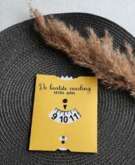 Precious beauty and more - Voedingskaart geel - Babyvoeding accessoires