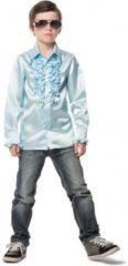 Lichtblauwe Fun & Feest Party Gadgets Rouches blouse lichtblauw voor jongens 128