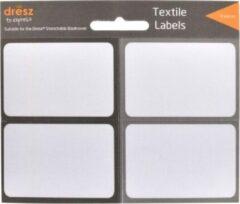 Verhaak Textiel etiketten - Zelfklevend - Wit/Grijs - 8-pack