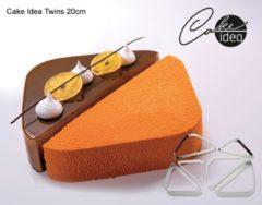"Roestvrijstalen Martellato Cake-Idea Bakringenset ""Twins 20cm"""